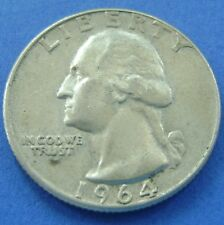 USA - Amerika 1964 D Washington Quarter Dollar, 25 cents. Silver.