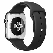 Replacement Silicone Wrist Bracelet Sport Band Strap For Apple Watch 42mm-Black