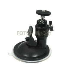 Mini Suction Cup Ballhead Mount Tripod Holder For Car Window Screen GPS Camera