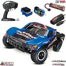 Traxxas 1/10 Slash VXL Brushless 2WD Short Course Truck RTR TSM TQi iD #1 Blue