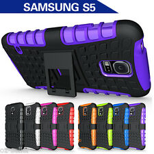 TPU Case Cover For Samsung Galaxy S5 Heavy Duty Tough Shockproof Kickstand