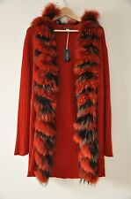 "DARK RED/rust/ burnt orange ""PATRIZIA PEPE"" COAT TUNIC JACKET,RED SCRIBE EU 42"