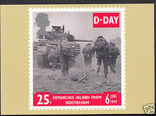 Royal Mail Stamp Postcard - D-Day 6 June 1944 - Advancing Inland  WC180