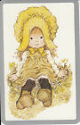 *Vintage Swap / Playing Card- 1 SINGLE - SARAH KAY GIRL SILVER BORDER