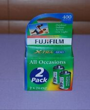 Lot of 2 Rolls Fujifilm Superia X-TRA ISO 400 24 Exposure 35mm Color Film - NEW