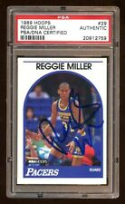 REGGIE MILLER 1989 HOOPS #29 CERTIFIED AUTOGRAPH AUTO PSA/DNA   + JSA BEAUTIFUL
