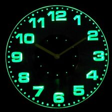 cnc2007-g Round Modern Numerals Illuminated Wall Neon Clock Sign LED Night Light
