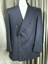 Marks & Spencer Cashmere Blend Double Breasted Gold Button Charcoal Blazer 42M