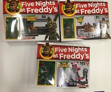 FIVE NIGHTS AT FREDDYS CONSTRUCTION SETS THE BED, THE CLOSET, SECURITY OFFICE
