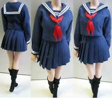 """Custom PL35 1/6 Scale Blue Navy Clothing Sets For 12"""" Female Body Toy"""