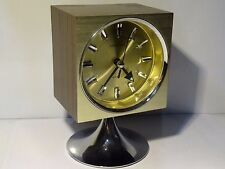Retro CORAMATIC vintage clock mantel type on chrome foot 60's 70's clock