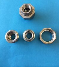 "1/2"" NPT 304 Stainless Steel Pipe Straight Union Coupling Ships from USA"