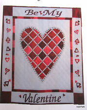 """Quilt Pattern Wallhanging Heart 35""""x39"""" Be My Valentine"""