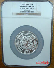 1988 China 5oz year of the dragon silver coin NGC PF69 Ultra Cameo