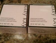 New Mary Kay Cosmetics mineral powder foundation Beige 2-- lot of 2