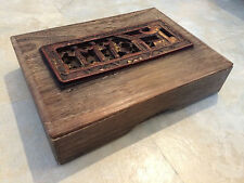 Chinese Wood Carving Wooden Box Rare!!! Collectible!!!!!