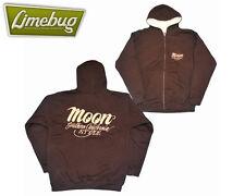 Mooneyes California Style Brown Hoody Jacket LARGE New Top Jumper T-shirt Hoodie
