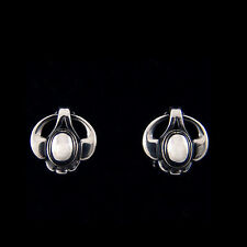 Georg Jensen Ear Clips Of The Year 2006 w. Silverstone - HERITAGE COLLECTION