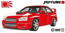 Subaru WRX Impreza   - Red with Factory Rims - JDM - JapTune Brand
