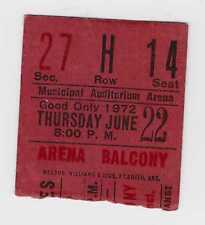 Rolling Stones - Stevie Wonder -6-22-72 - Kansas City concert ticket stub - 1972