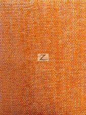 "SPARKLE CHENILLE UPHOLSTERY FABRIC - Orange - 57"" WIDTH SOLD BY THE YARD"