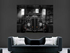 BLACK HOT ROD CAR POSTER CLASSIC USA HUGE LARGE WALL ART POSTER PICTURE