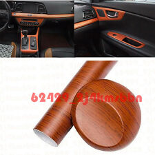 Autos Car Center Console Brown Wood Grain Texture Decorative Sticker Vinyl Wrap
