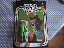 vintage star wars greedo on 21 back recard