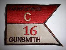 US Army C Troop 16th Cavalry Regiment DARKHORSE GUNSMITH- Vietnam War Patch
