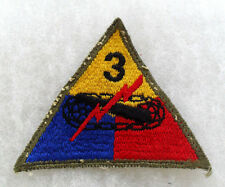 1940/50'S GERMAN MADE 3RD ARMORED DIV OPEN WEAVE EMB OD BORDER OFF COAT STYLE