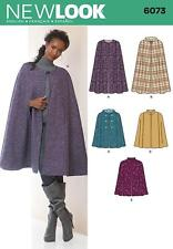 NEW LOOK SEWING PATTERN MISSES' CAPE SIZE XS - XL 6073