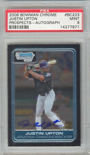 Justin Upton Tigers 2006 Bowman Chrome #BC223 Rookie Card Auto rC PSA 9 Mint QTY