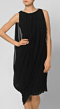 HALSTON COLLECTION LUXURY SILK ASYMMETRIC DRESS RETAIL £1625 SIZE 10/12