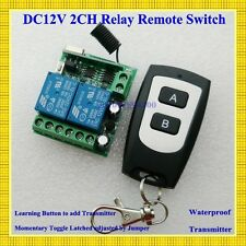 DC 12V 2CH Mini Remote Switch 10A Relay Contact NO COM NC Wireless Switch