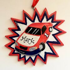 Personalized Race Car Christmas Tree Ornament Holiday Gift