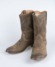 NIB. RALPH LAUREN Ackley Snuff Oiled Suede Leather Boots Shoes 10 Italy $850