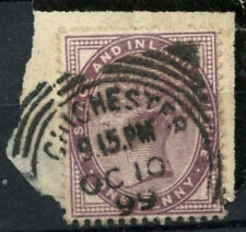 GB QV 1881 SG#172, 1d Lilac Chichester Squared Circle CDS On Piece #D6191