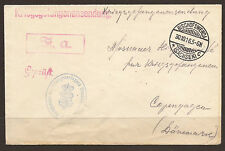 GERMANY. WW1. 1916. BISCHOFSWERDA POW CAMP. CENSORED COVER TO MOSCOW RELIEF IN K