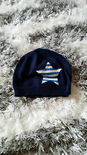 BABY GAP UNISEX BOY OR GIRL COTTON FITTED STAR HAT NAVY BLUE 18-24 MONTHS