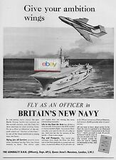 BRITAINS NEW ROYAL NAVY FLEET AIR ARM ADMIRALTY DNR 1957 GIVE AMBITION WINGS AD