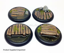 50mm Round Lipped Bayou Boardwalk Resin Bases - Warmachine Malifaux Water Effect