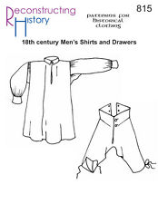 Patrones de corte Rh 815: 18th Century Men 's shirts and Drawers