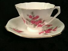 "Radfords "" Raspberry"" English Bone China Teacup and Saucer"