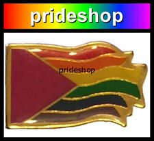 Pink Triangle To Freedom Rainbow Flag Lapel Badge Pin Lesbian Gay Pride #1103