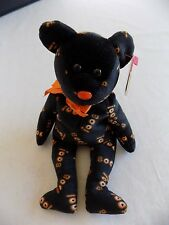 Yikes the Halloween Teddy Bear TY Original Beanie Baby 2006 with Heart Price Tag