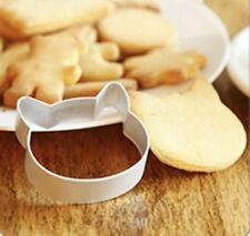 Cat Head Cookie Cutter Baking Fondant Pastry U.K SELLER