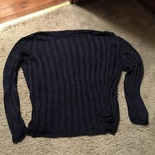 I.N.C. Women's Sweater - Size Large - Shear Dark Blue Excellent