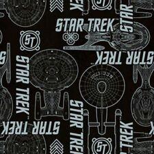 """Camelot Star Trek Spaceship Patchwork 100% cotton 44"""" Fabric X 35"""""""