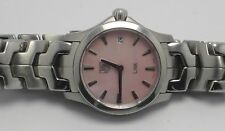 TAG HEUER WJF1412 WOMENS PINK PEARL LINK STAINLESS STEEL WATCH