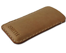 Sony Xperia Cow Waxed Leather Cover Case PERSONALIZED Sleeve Pouch Hand sewn